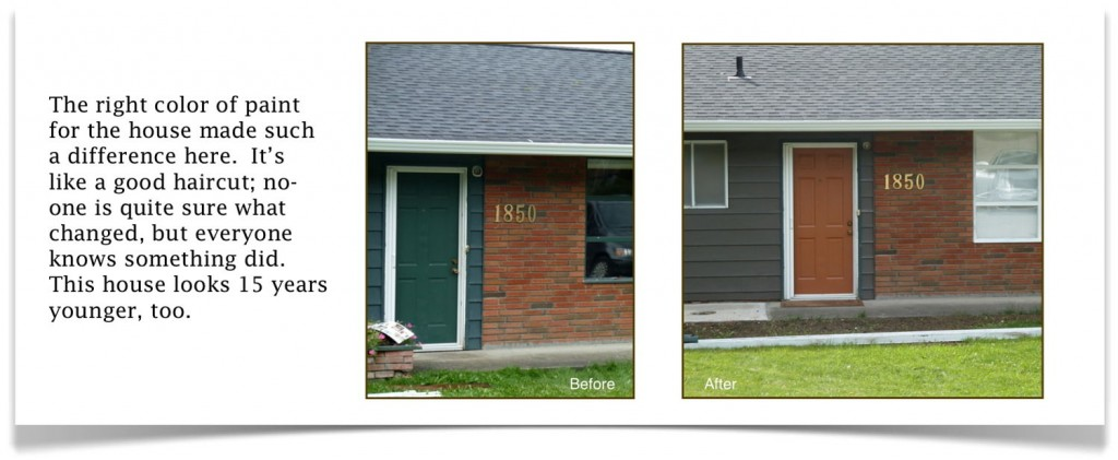 Home exterior with new paint colors