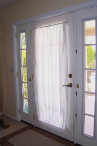 Superbe Curtains. Magnetic Curtain Rod, Front Door